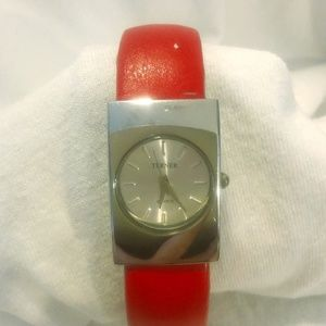Bijoux Terner Ladies Red Cuff Watch